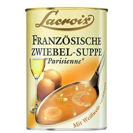 "Prancūziška svogūnų sriuba LACROIX ""Parisienne"" su rafinuotu baltuoju vynu, 400 ml"