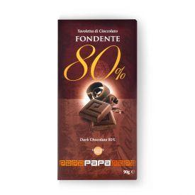 Juodasis šokoladas 80% PAPA, 90g