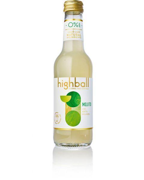 Nealkoholinis kokteilis HIGHBALL Mojito 0%, 250 ml