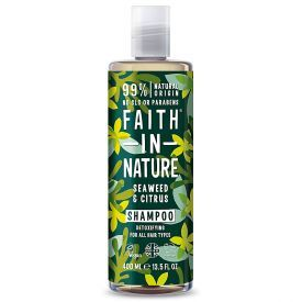 Detoksikuojamasis šampūnas FAITH IN NATURE su jūros dumbliais, 400 ml