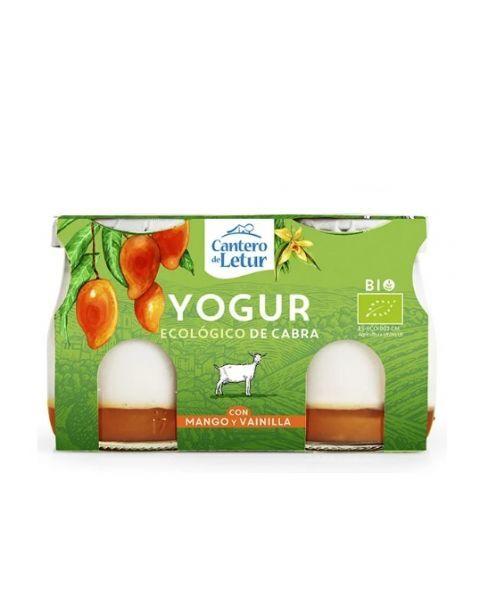 Ekologiškas ožkų pieno jogurtas CANTERO DE LETUR su mangais ir vanile, 2x125g