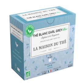 Ekologiška baltoji arbata LA MAISON DU THE Earl Grey White Tea, 15 maišelių