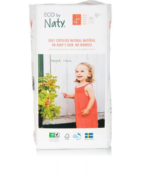 Sauskelnės EKO by NATY 4+ Maxi Plus 9-20 kg vaikams, 42 vnt. 2