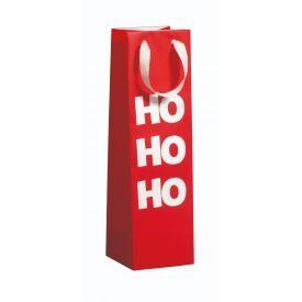 Dovanų maišelis ZOEWIE Ho Ho Ho (10.5x10.5x36 cm), 1 vnt.