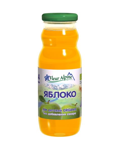 Ekologiškos švelnaus skonio obuolių sultys kūdikiams nuo 4 mėn. FLEUR ALPINE, 200 ml