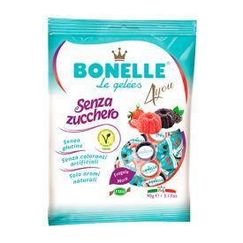 Minkšti miško uogų skonio saldainiai BONELLE be cukraus, 90 g