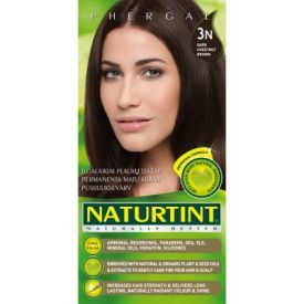 Ilgalaikiai plaukų dažai be amoniako NATURTINT 3N tamsi kaštoninė, 165 ml