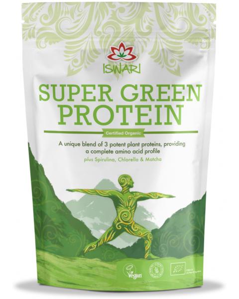 Ekologiškas proteinas ISWARI Super Green, 250g