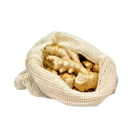 Ekologiškas vidutinio dydžio maišelis vaisiams ir daržovėms 25x30 cm SUZTAIN, 1 vnt.