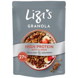 """Sausi pusryčiai su baltymais LIZI'S """"Granola"""", 350 g"""