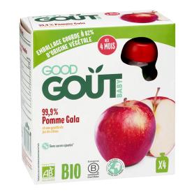 Ekologiškos tyrelės GOOD GOUT obuolių Gala skonio, 4x85g., nuo 4 mėnesių