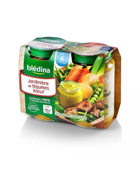 Jautiena su daržovėmis BLEDINA nuo 6 mėn., 2x200 g