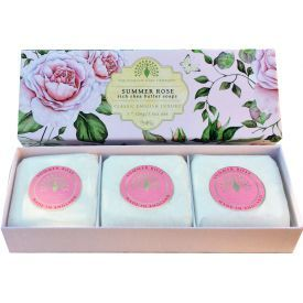 Muilas ENGLISH SOAP Summer Rose, 3 vnt. po 100 g