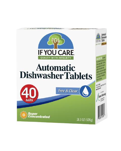 IF YOU CARE indaplovių tabletės, 40 vnt