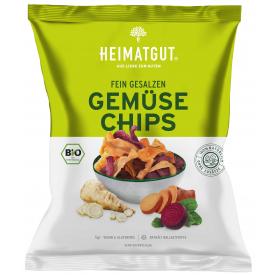 Ekologiški daržovių traškučiai HEIMATGUT su druska, 100 g