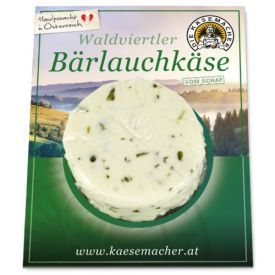 """Avių pieno sūris """"Waldviertler"""" su česnakais DIE KASEMACHER, 120g"""
