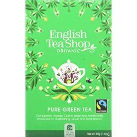 Ekologiška žalioji arbata ENGLISH TEA SHOP Pure Green , 20 maišelių