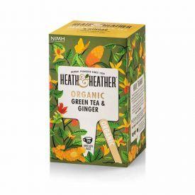 Ekologiška žalioji arbata HEATH & HEATHER  su imbierais 40g