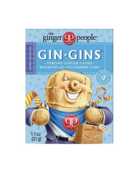 Kramtomi imbieriniai saldainiai GINGER PEOPLE Strong dėžutėje, 31 g
