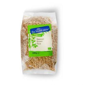 Ekologiški basmati rudieji ryžiai THS ORGANIC, 500 g