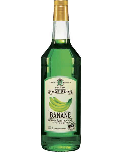 Žaliųjų bananų skonio sirupas SIROP RIEME 1L