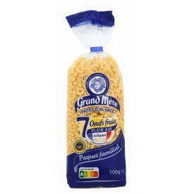 Makaronai su kiaušiniais GRAND'MERE CLASSIQUES maži rageliai, 500 g.