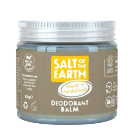 Natūralus tepamas dezodorantas SALT OF THE EARTH su gintaru ir santalu, 60g
