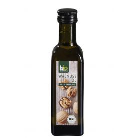 Ekologiškas šalto spaudimo graikinių riešutų aliejus BIOZENTRALE, 100 ml