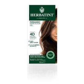Plaukų dažai be amoniako HERBATINT su ekologiškais ekstraktais, 4D aukso kaštonas, 150 ml