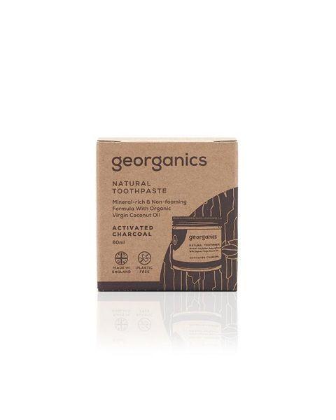 Kokosų dantų pasta GEORGANICS su aktyvinta anglimi, 120 ml 2