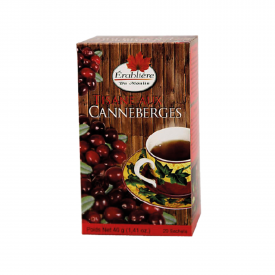 Arbata TIPI Cranberry herbal tea, 20 maišelių