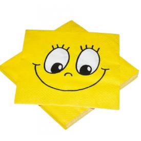 Serviravimo servetėlės HEKU šypsenėlė, 3 sluoksnių, 33 x 33 cm, 20 vnt