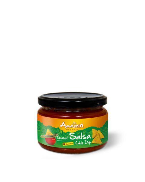 Ekologiškas padažas AMAIZIN Salsa Sweet (Chip Dip), 260g