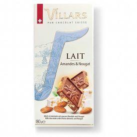 Pieninis šokoladas VILLARS su migdolų riešutais ir nuga, 180g