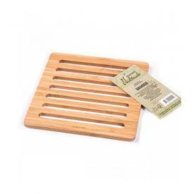 Keturkampis bambukinis padėkliukas SUZTAIN, 1 vnt.