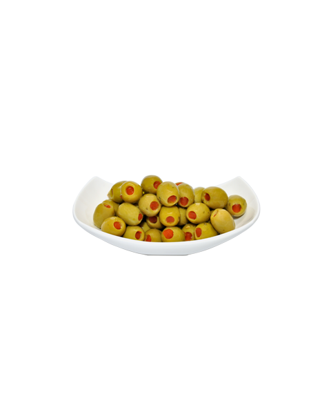 Žaliosios alyvuogės įdarytos paprikomis FICACCI, 1 kg