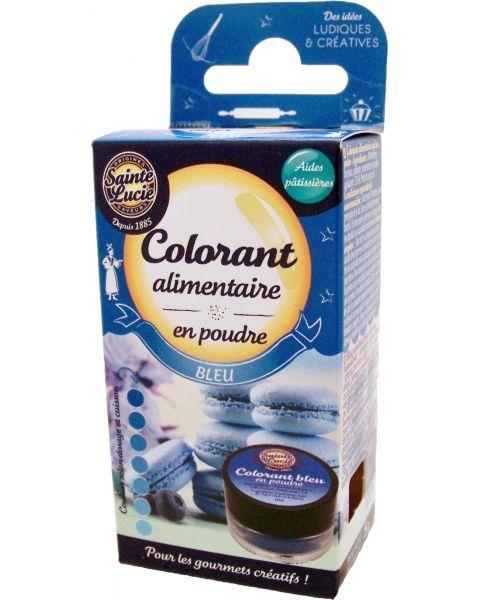 Maistinių dažų milteliai SAINTE LUCIE, mėlynos spalvos, 5 g