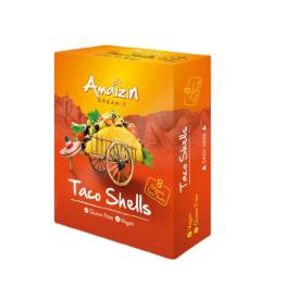 Ekologiški kukurūzų krepšeliai AMAIZIN Taco Shells, 150g