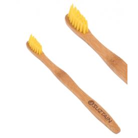 SUZTAIN Everyday dantų šepetėlis vidutinio kietumo, Geltonas, 1 vnt