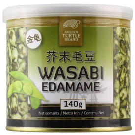 Žaliosios sojų pupelės GOLDEN TURTLE wasabi apvalkale, 140g