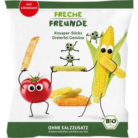 Ekologiškos trapios lazdeles FRECHE FREUNDE su žirneliais, pomidorais ir kukuruzais, 30 g