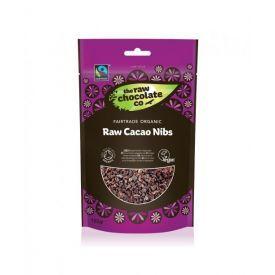 Ekologiškos skaldytos kakavos pupelės RAW CHOCOLATE, 150 g
