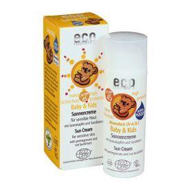 Kūdikių ir vaikų saulės kremas ECO COSMETICS su granatais ir šaltalankiais SPF45, 50 ml