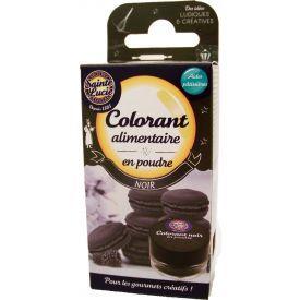 Maistinių dažų milteliai SAINTE LUCIE, juodos spalvos, 3,5 g