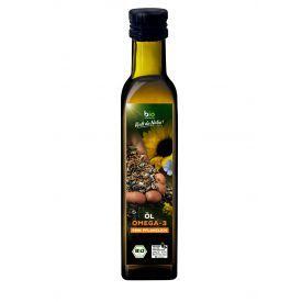 Ekologiškas aliejų mišinys Omega-3 BIOZENTRALE, 250 ml