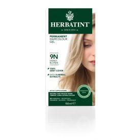 Plaukų dažai be amoniako HERBATINT su ekologiškais ekstraktais, 9N medaus blondinė, 150 ml