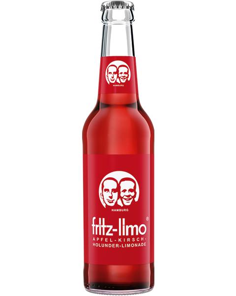 Gaivusis gazuotas obuolų, vyšnių ir šeivamedžio uogų gėrimas su sultimis FRITZ-LIMO, 330ml