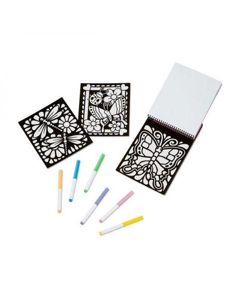"Aksominė spalvinimo knygelė MELISSA & DOUG ""Butterfly"", 1 vnt. 2"
