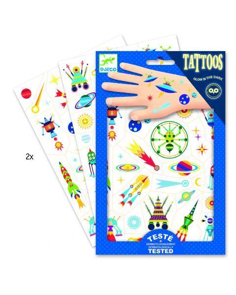 Vaikiškos tatuiruotės kūnui DJECO Space Oddity (DJ09590) 2