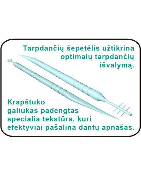 Dantų krapštukas su šepetėliu CLEANPIK Interdental BrushPicks, 150 vnt 3